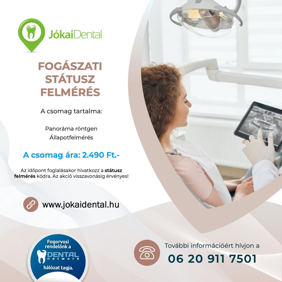 Fogászati státusz felmérés | | Jókai Dental fogorvos Budapesten