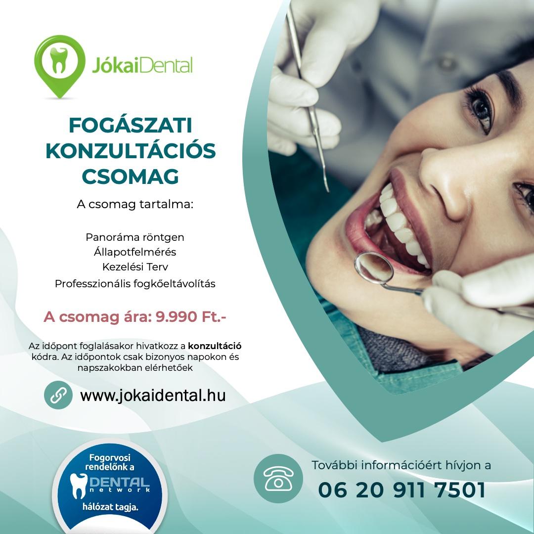 Jókai Dental fogorvos Budapesten | Konzultácó csomag akció