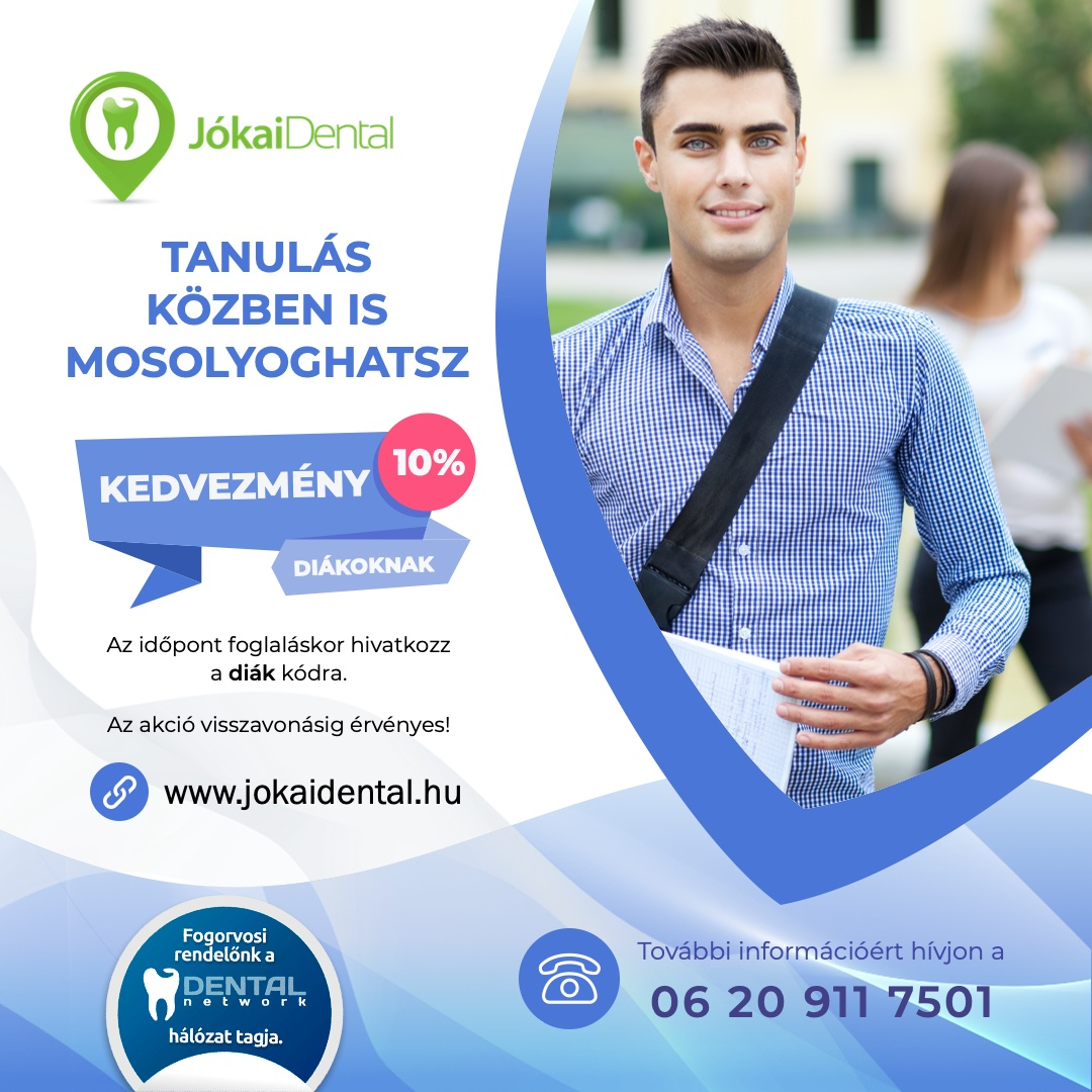 Jókai Dental fogorvos Budapesten - Diák kedvezmény