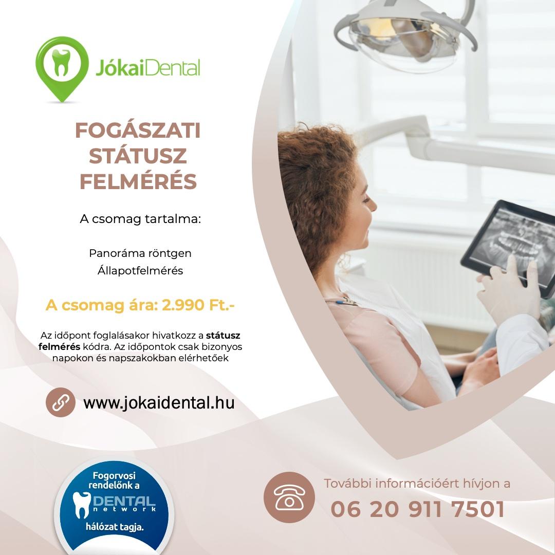 Jókai Dental fogorvos Budapesten - Fogászati státusz felmérés